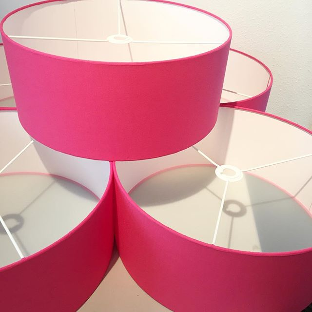 Pink Lampshades with diffuser