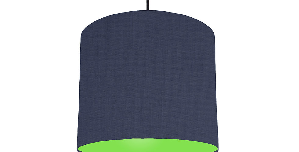 Navy Blue & Lime Green Lampshade - 25cm Wide