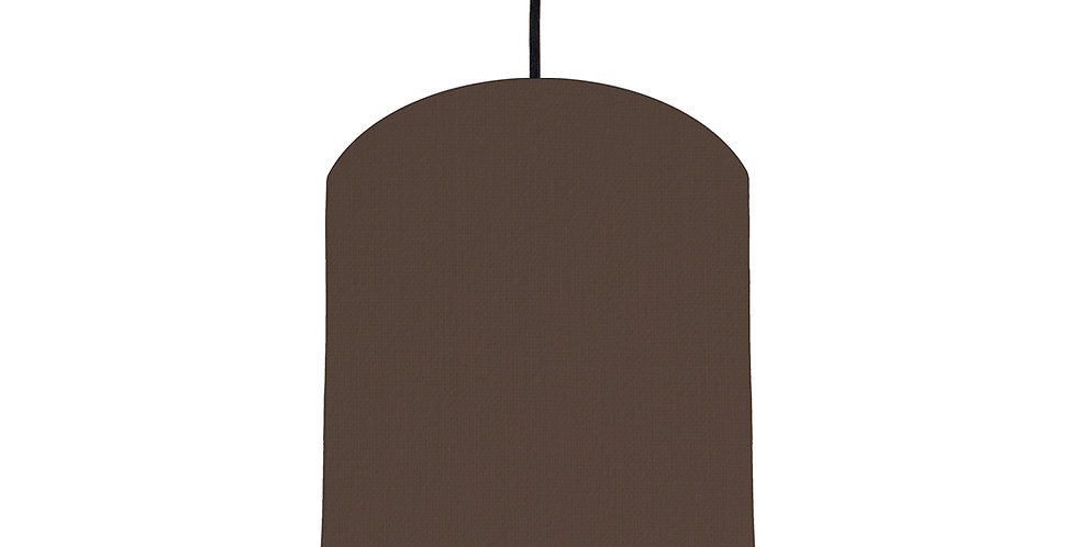 Brown & Mint Lampshade - 20cm Wide
