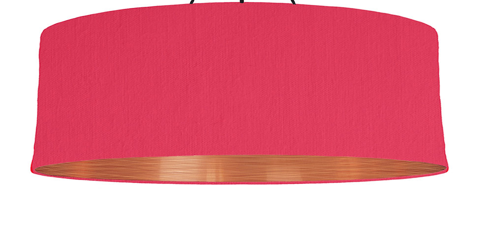 Cerise & Brushed Copper Lampshade - 100cm Wide