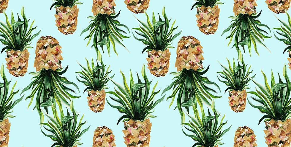 Pineapple Fabric - Blue