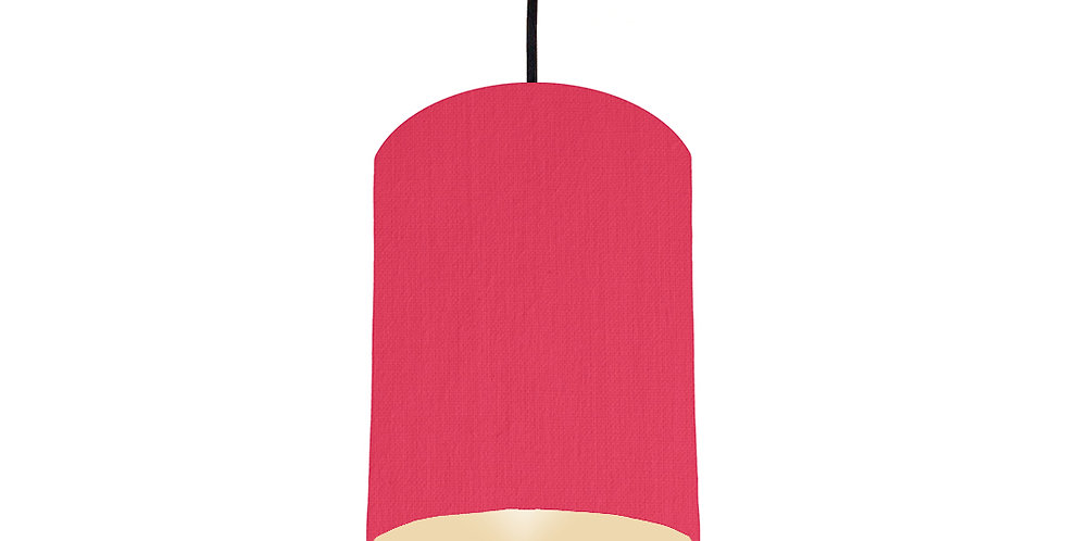 Cerise & Ivory Lampshade - 15cm Wide