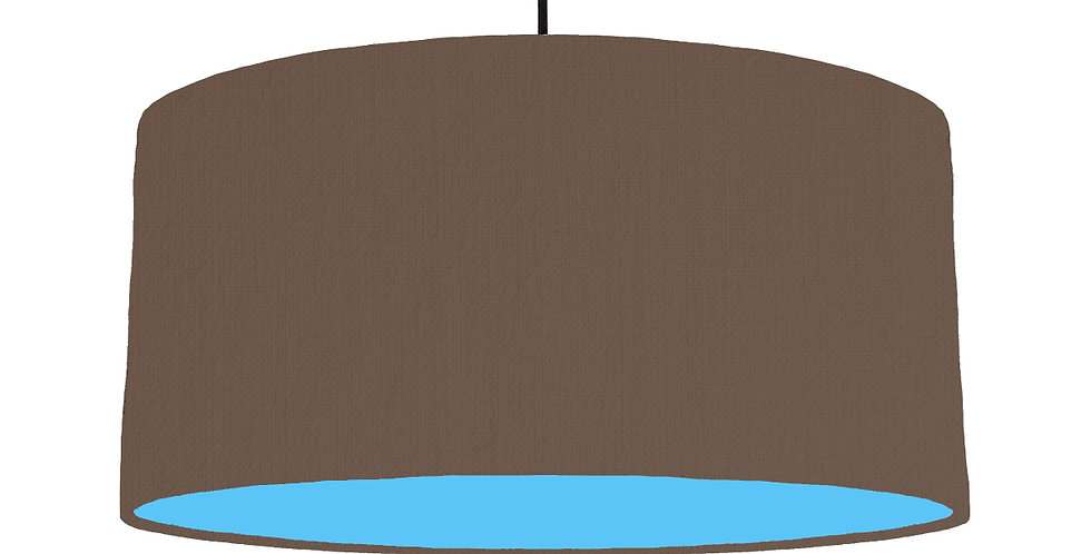Brown & Light Blue Lampshade - 60cm Wide