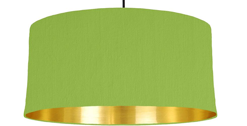 Pistachio & Gold Mirrored Lampshade - 60cm Wide