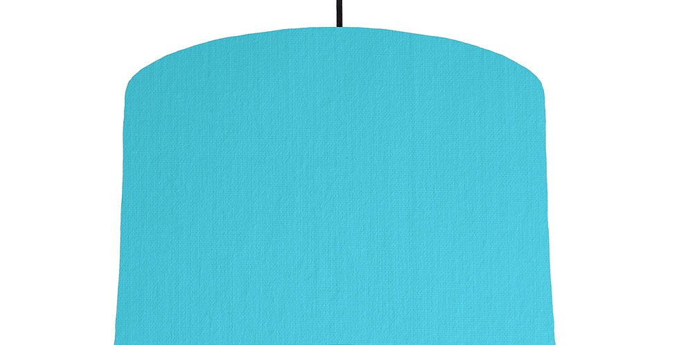Turquoise & Navy Lampshade - 30cm Wide