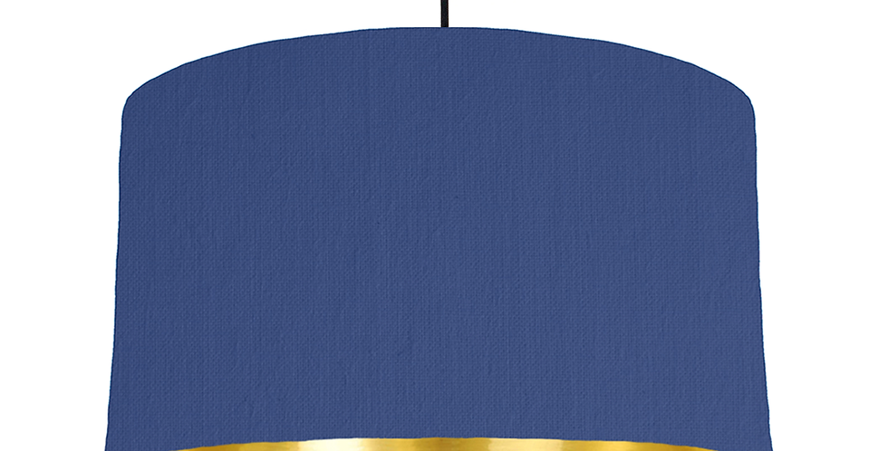 Royal Blue & Gold Mirrored Lampshade - 50cm Wide