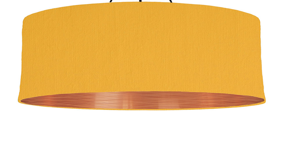 Sunshine & Brushed Copper Lampshade - 100cm Wide