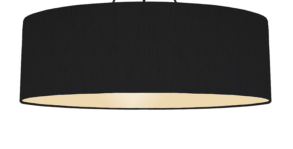 Black & Ivory Lampshade - 100cm Wide