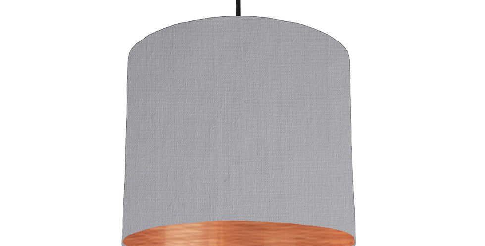 Light Grey & Brushed Copper Lampshade - 25cm Wide