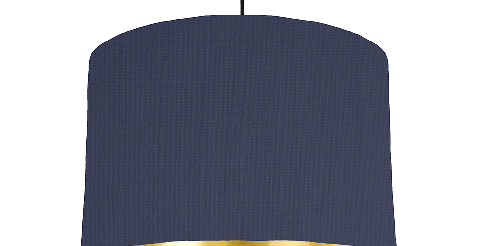 Navy & Gold Mirrored Lampshade - 30cm Wide