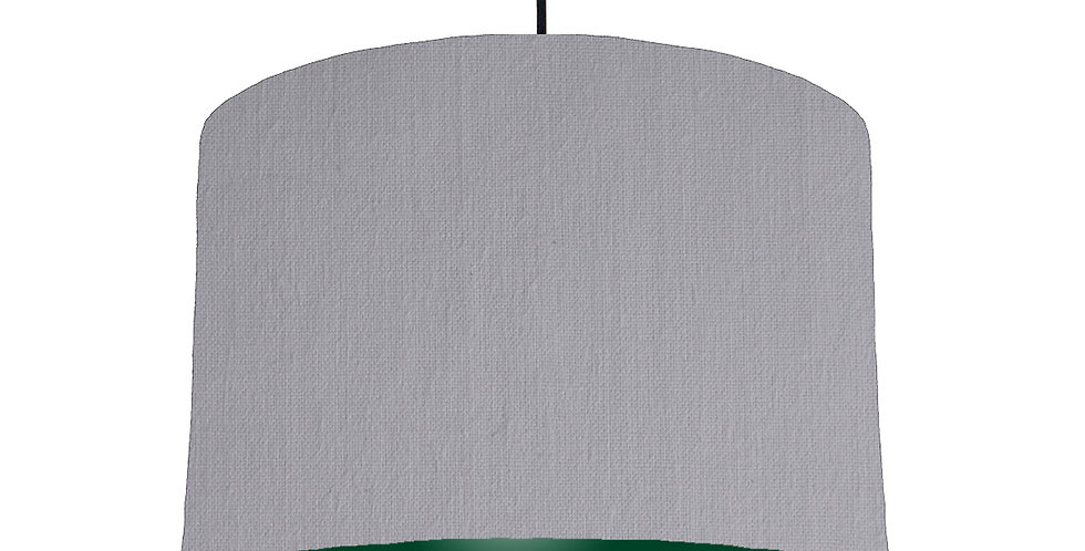 Light Grey & Forest Green Lampshade - 30cm Wide