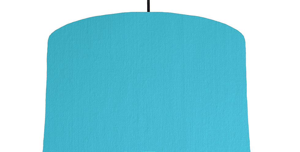 Turquoise & White Lampshade - 40cm Wide