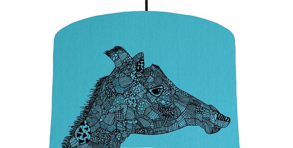 Giraffe - Turquoise Fabric