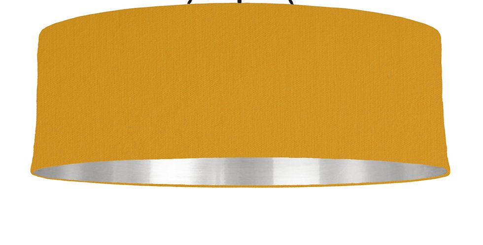 Mustard & Silver Mirrored Lampshade - 100cm Wide
