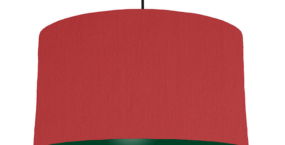 Red & Forest Green Lampshade - 50cm Wide