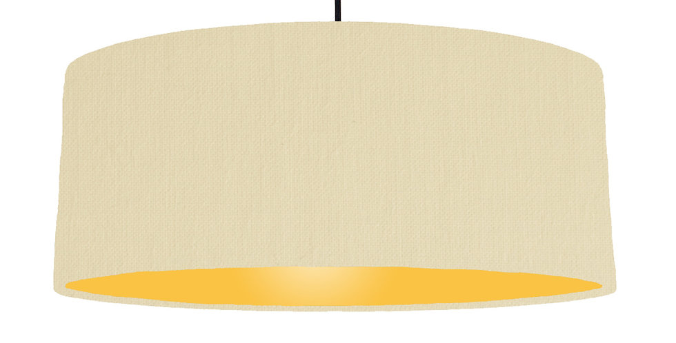 Natural & Butter Yellow Lampshade - 70cm Wide