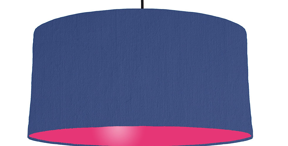 Royal Blue & Magenta Lampshade - 60cm Wide