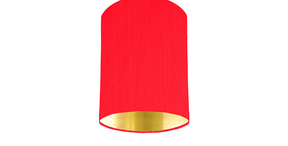 Neon Pink & Gold Mirrored Lampshade - 15cm Wide