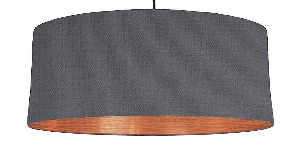 Dark Grey & Brushed Copper Lampshade - 70cm Wide