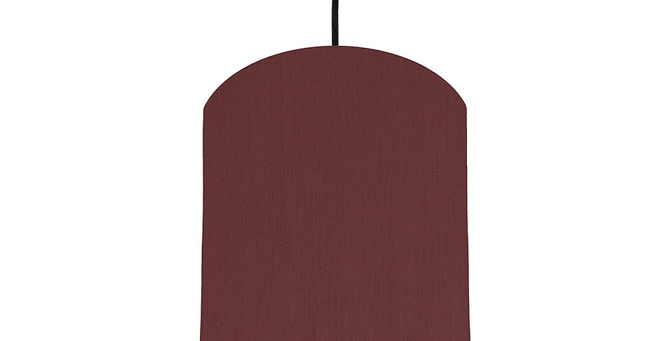 Wine Red & Forest Green Lampshade - 20cm Wide