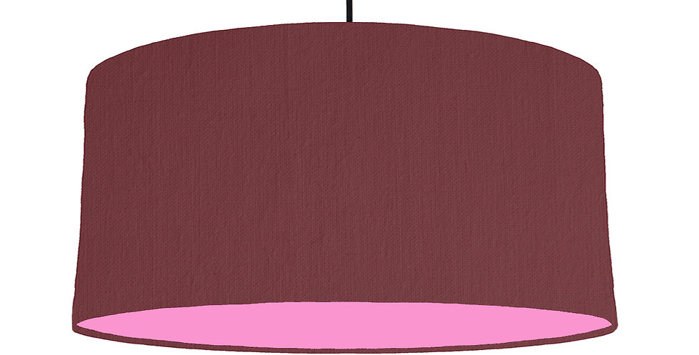 Wine Red & Pink Lampshade - 60cm Wide