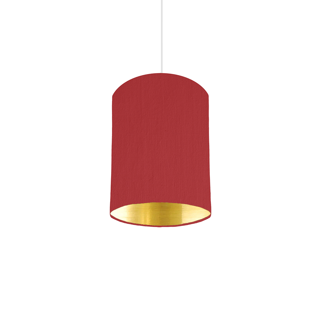 Red Gold Mirrored Lampshade 15cm Wide