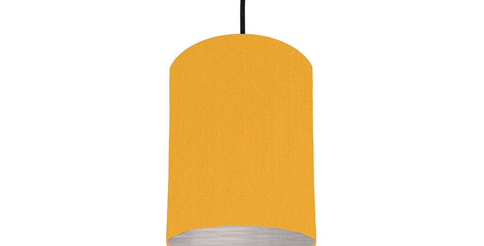 Sunshine & Brushed Silver Lampshade - 15cm Wide