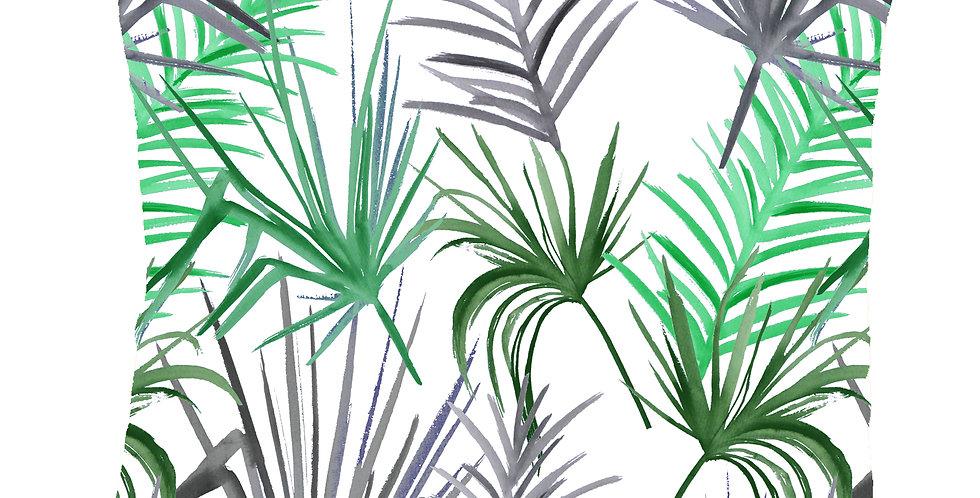 Tropical Leaf Cushion - White
