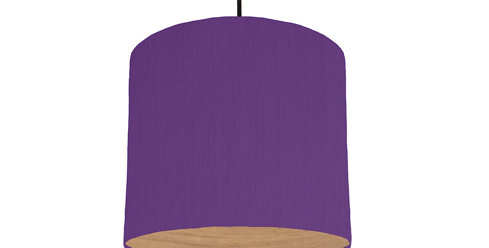 Violet & Wood Lined Lampshade - 25cm Wide