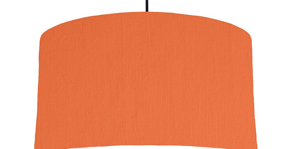 Orange & White Lampshade - 50cm Wide