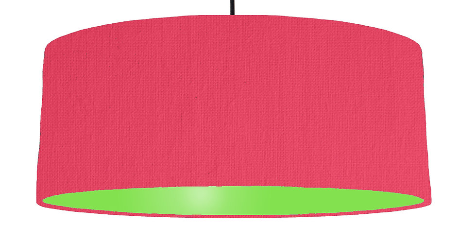 Cerise & Lime Green Lampshade - 70cm Wide