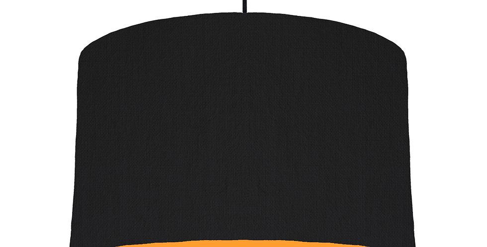 Black & Orange Lampshade - 40cm Wide