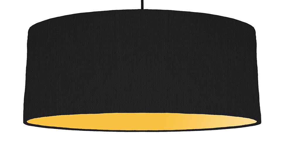 Black & Butter Yellow Lampshade - 70cm Wide