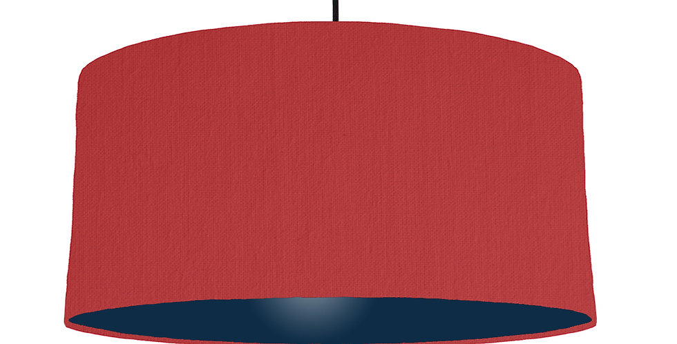 Red & Navy Lampshade - 60cm Wide