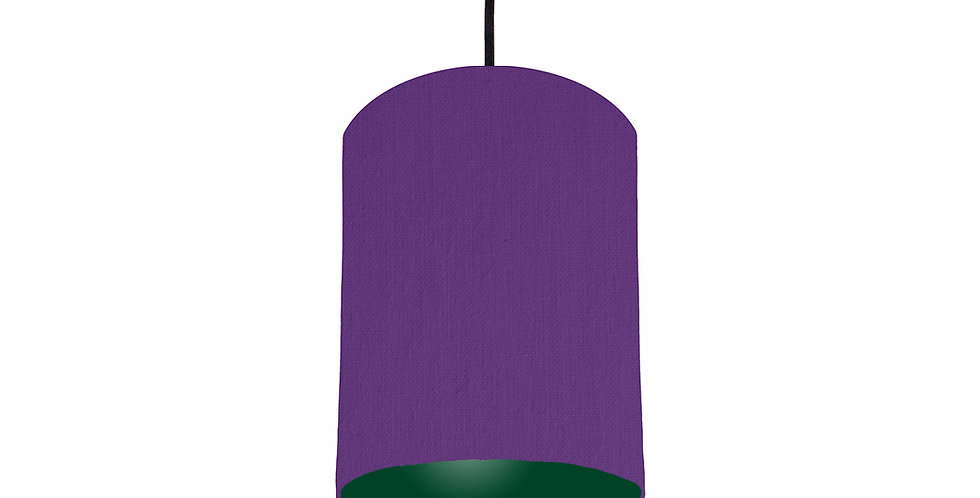 Violet & Forest Green Lampshade - 15cm Wide