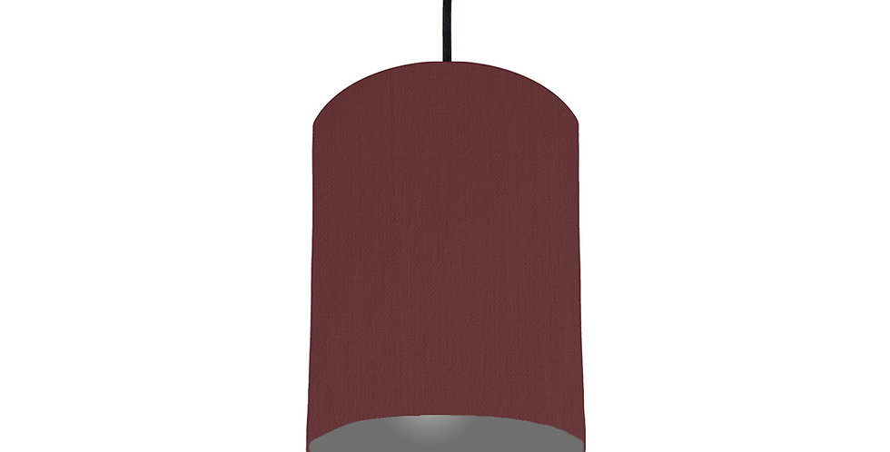 Wine Red & Dark Grey Lampshade - 15cm Wide