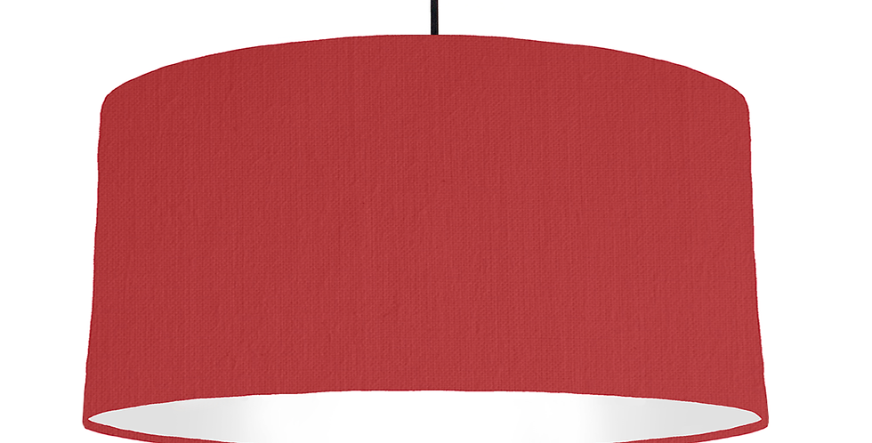 Red & White Lampshade - 60cm Wide