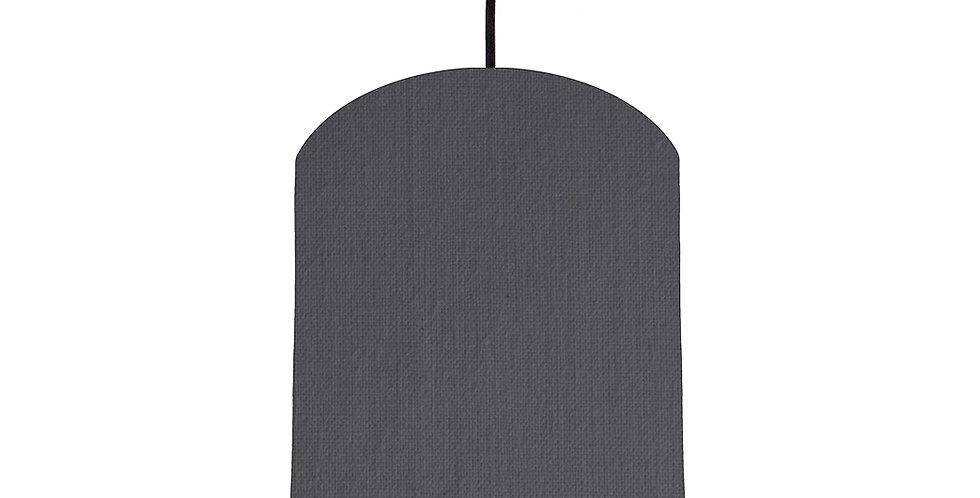 Dark Grey & Pink Lampshade - 20cm Wide