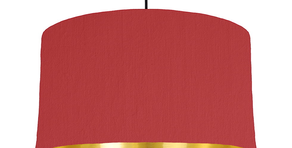 Red & Gold Mirrored Lampshade - 50cm Wide