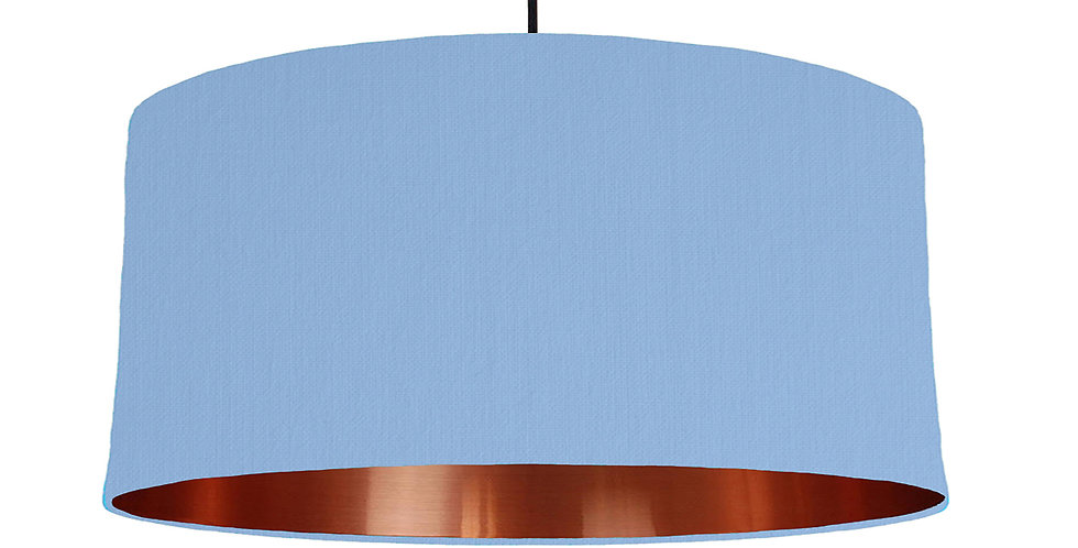 Sky Blue & Copper Mirrored Lampshade - 60cm Wide