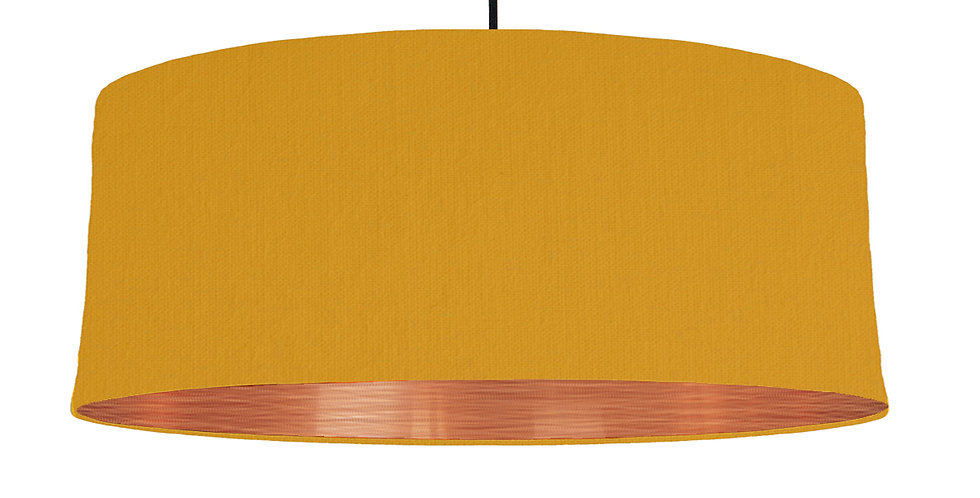 Mustard & Brushed Copper Lampshade - 70cm Wide