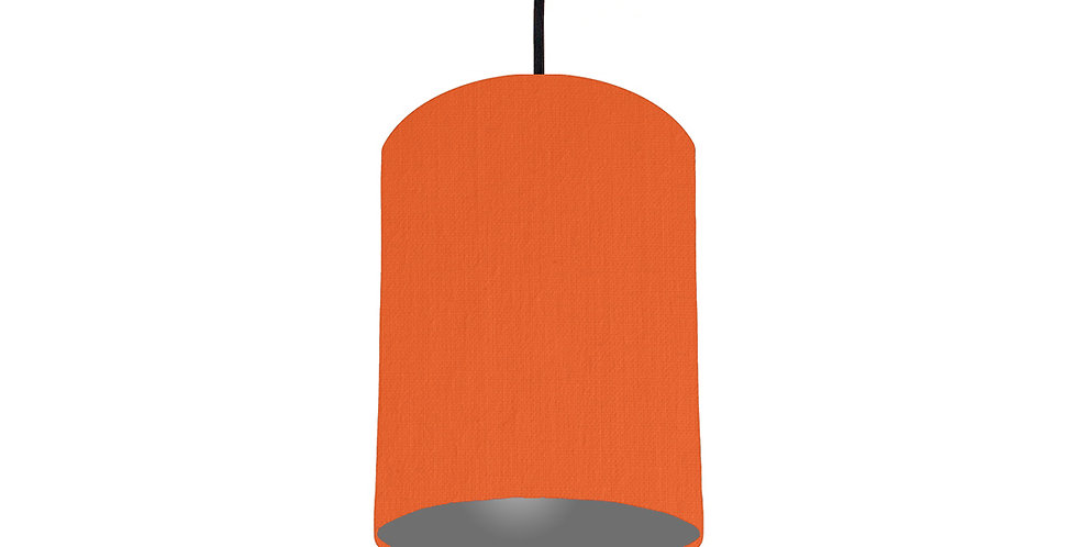 Orange & Dark Grey Lampshade - 15cm Wide