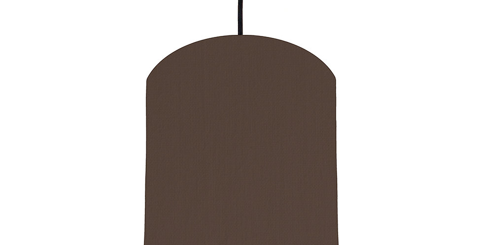 Brown & Poppy Red Lampshade - 20cm Wide