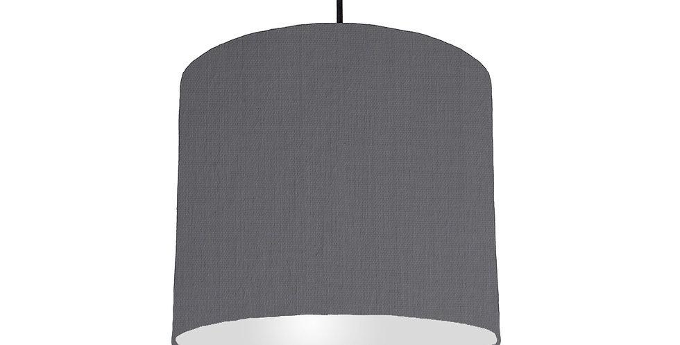 Dark Grey & Light Grey Lampshade - 25cm Wide