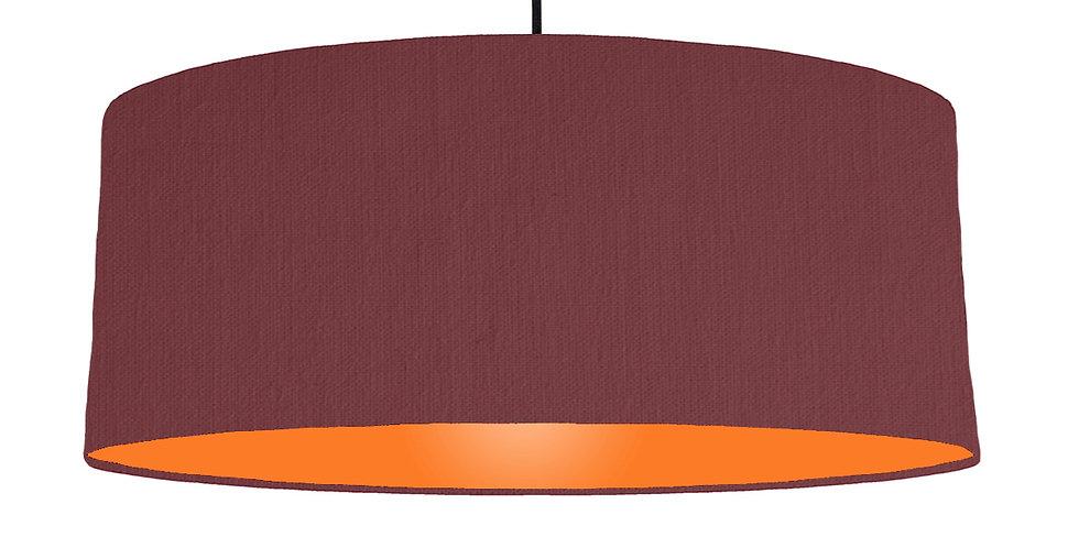 Wine Red & Orange Lampshade - 70cm Wide