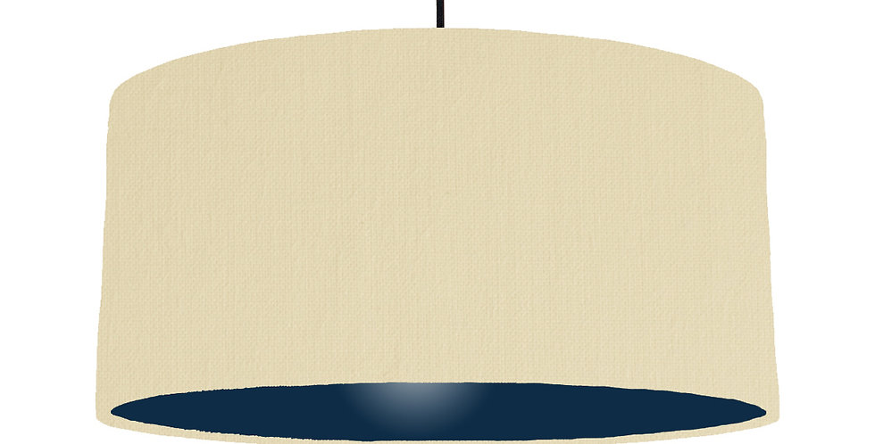 Natural & Navy Lampshade - 60cm Wide