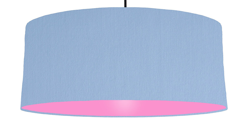 Sky Blue & Pink Lampshade - 70cm Wide