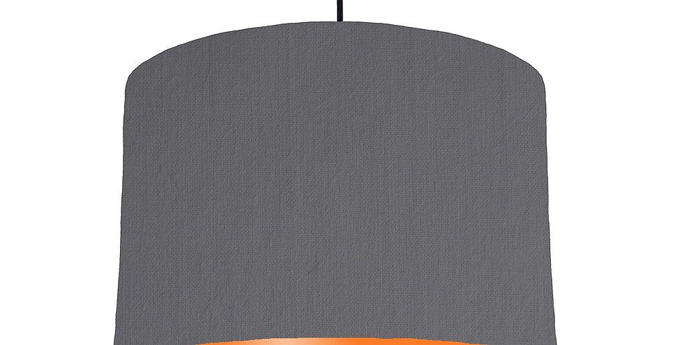 Dark Grey & Orange Lampshade - 30cm Wide