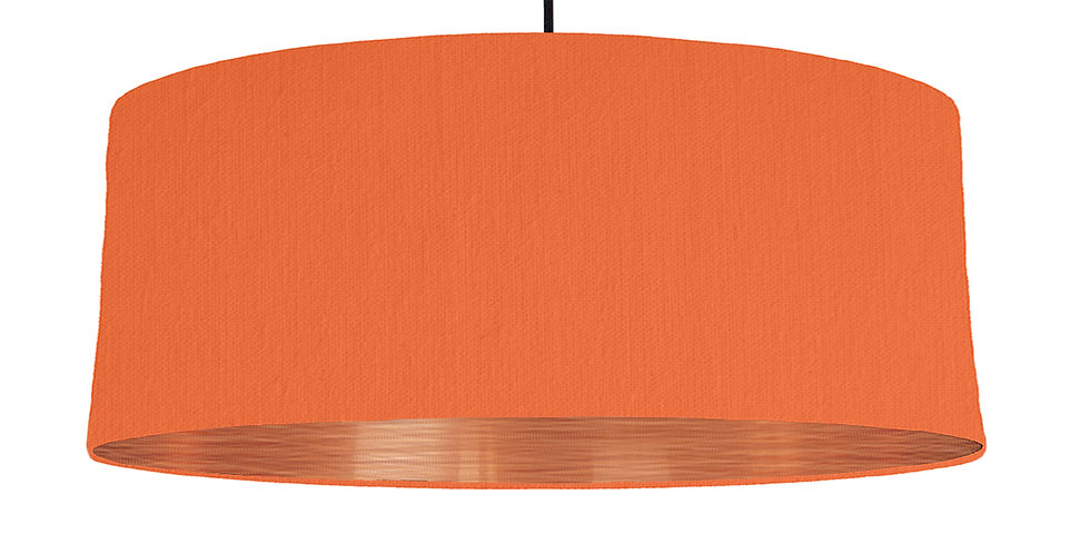 Orange & Brushed Copper Lampshade - 70cm Wide