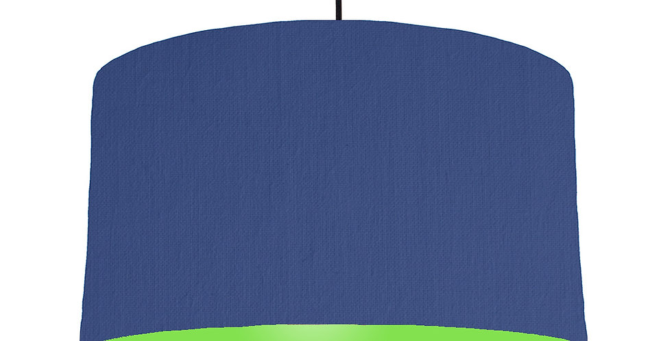 Royal Blue & Lime Green Lampshade - 50cm Wide